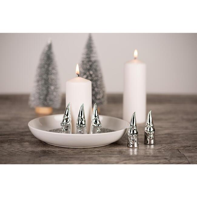 5 x kleine Wichtel - Dekorative Weihnachtsdeko, Tischdeko